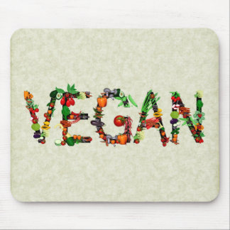 Vegan Vegetables Mouse Pad