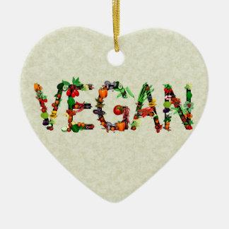 Vegan Vegetables Christmas Tree Ornament