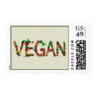 Vegan Vegetables Postage Stamps