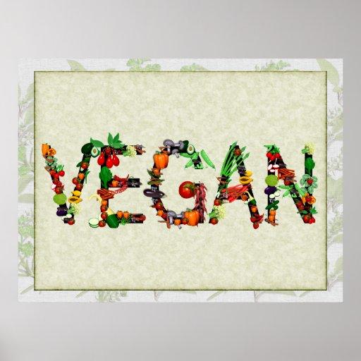 Vegan Vegetables Print