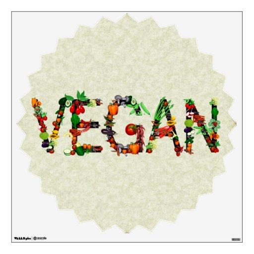 Vegan Vegetables Wall Graphic