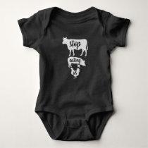 Vegan Vegetarian Baby Romper Playsuit