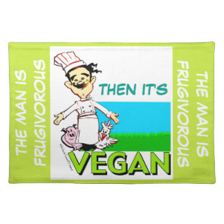 Vegan/vegetarian chef cloth placemat