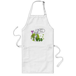 vegan-vegetarian cook, with 'your Name...' Long Apron
