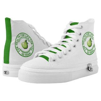 Vegan Vegetarian Green Apple For Health For Life Printed Shoes