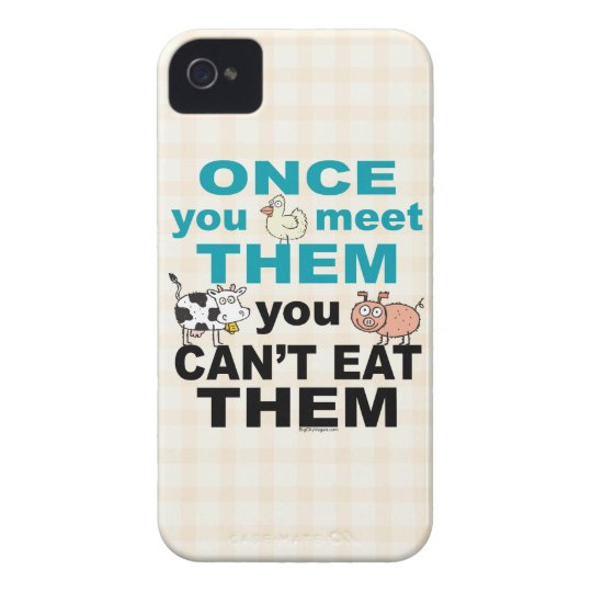 Vegan Vegetarian iPhone 4 Case
