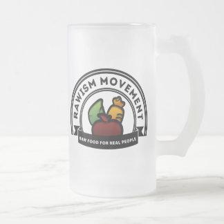 Vegan Vegetarian Raw Movement Frosted Glass Beer Mug