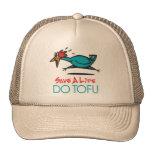 Vegan, Vegetarian Tofu Trucker Hats