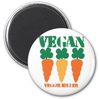Vegan Veggie killer 2 Inch Round Magnet
