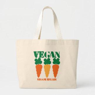Vegan Veggie killer Large Tote Bag
