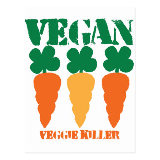Vegan Veggie killer Postcard