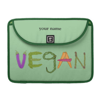 Vegan Veggie Lovers MacBook Pro Personalised Sleeve For MacBooks