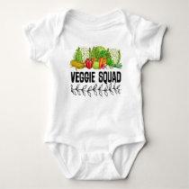 Vegan Veggie Squad Baby Bodysuit