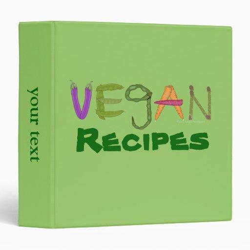 Vegan Veggies Vegetable Lovers 3 Ring Binder