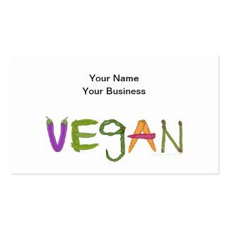 Vegan Veggies Vegetable Lovers Business Card