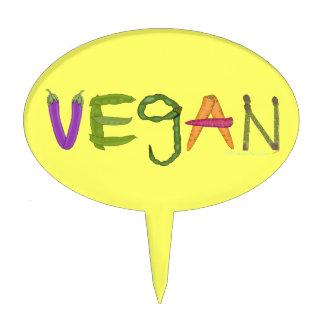 Vegan Veggies Vegetable Lovers Cake Topper