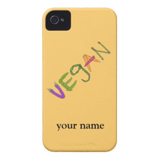 Vegan Veggies Vegetable Lovers Custom Name iphone iPhone 4 Case