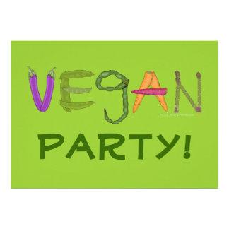 Vegan Veggies Vegetable Lovers Personalized Invite