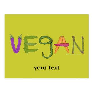 Vegan Veggies Vegetable Lovers Postcard
