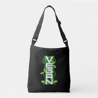 Vegan Vertical Tote Bag White Font