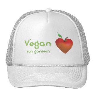 Vegan von ganzem Herzen (rotes Apfelherz) Mesh Hat