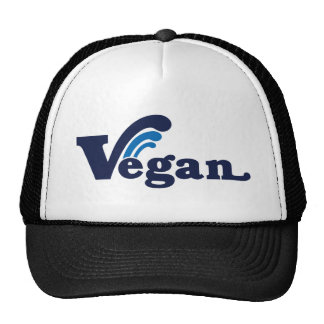 Vegan wave design trucker hat
