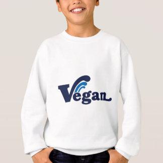 Vegan Wave Design Sweatshirt