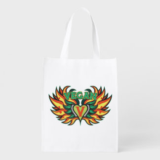 Vegan Wings Grocery Bag