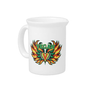 Vegan Wings Beverage Pitcher