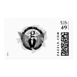 Vegan wings stamps