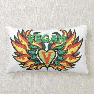Vegan Wings Throw Pillow