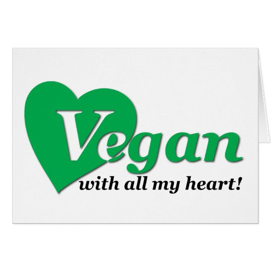 Vegan with all my heart card