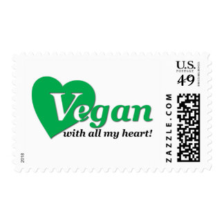 Vegan with all my heart stamp