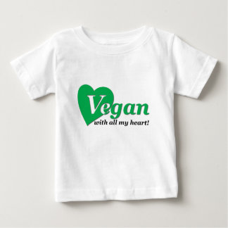 Vegan with all my heart t-shirt