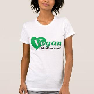 Vegan with all my heart tee shirt