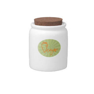 Vegan with Carrot Graphic Candy Jars