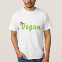 Vegan with Christmas Hat. T-Shirt