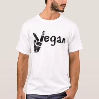 Vegan with Peace Symbol T-Shirt