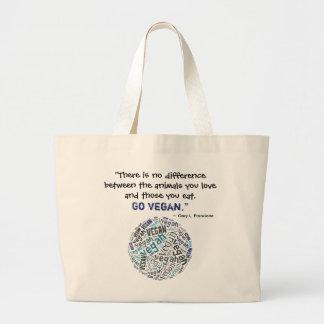 """""""Vegan"""" Word-Cloud Mosaic and Quote Jumbo Tote Bag"""
