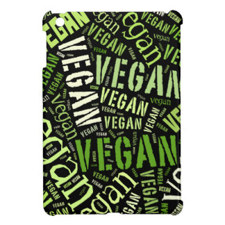 """Vegan"" Word-Cloud Mosaic Case For The iPad Mini"