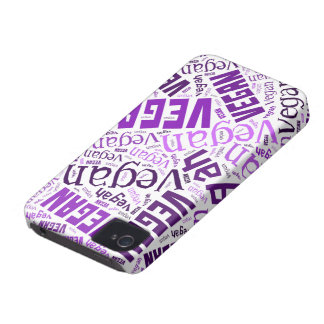 """Vegan"" Word-Cloud Mosaic Case-Mate iPhone 4 Case"
