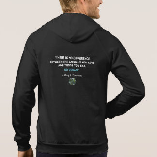 """Vegan"" Word-Cloud Mosaic Circle with Quote Hoodies"