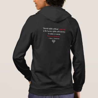 """Vegan"" Word-Cloud Mosaic Heart & Quote (black) Hoodie"