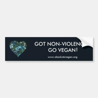 """Vegan"" Word-Cloud Mosaic (Heart) & Quote Car Bumper Sticker"