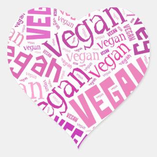 """""""Vegan"""" Word-Cloud Mosaic Heart Sticker"""