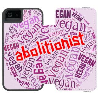 """Vegan"" Word-Cloud Mosaic iPhone 5/5s Wallet Case"