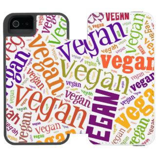"""Vegan"" Word-Cloud Mosaic iPhone 6 Wallet Case"