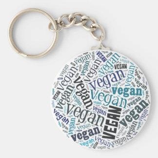 """Vegan"" Word-Cloud Mosaic Keychains"
