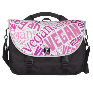 """Vegan"" Word-Cloud Mosaic Bag For Laptop"