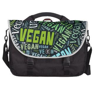 """""""Vegan"""" Word-Cloud Mosaic Bags For Laptop"""
